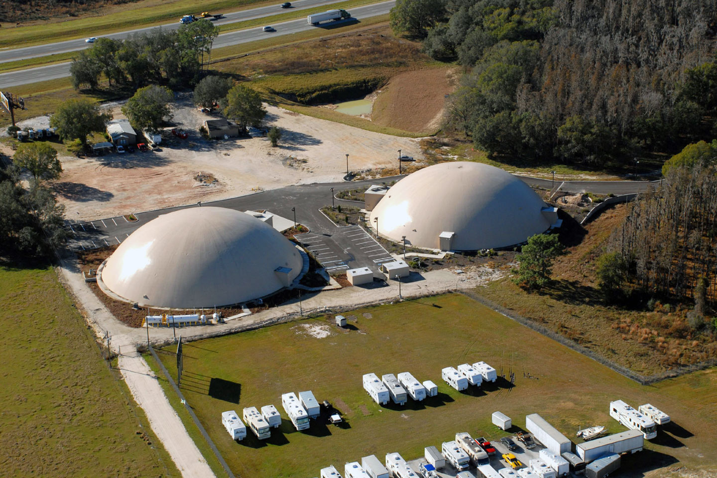photo of high security recovery command center domes