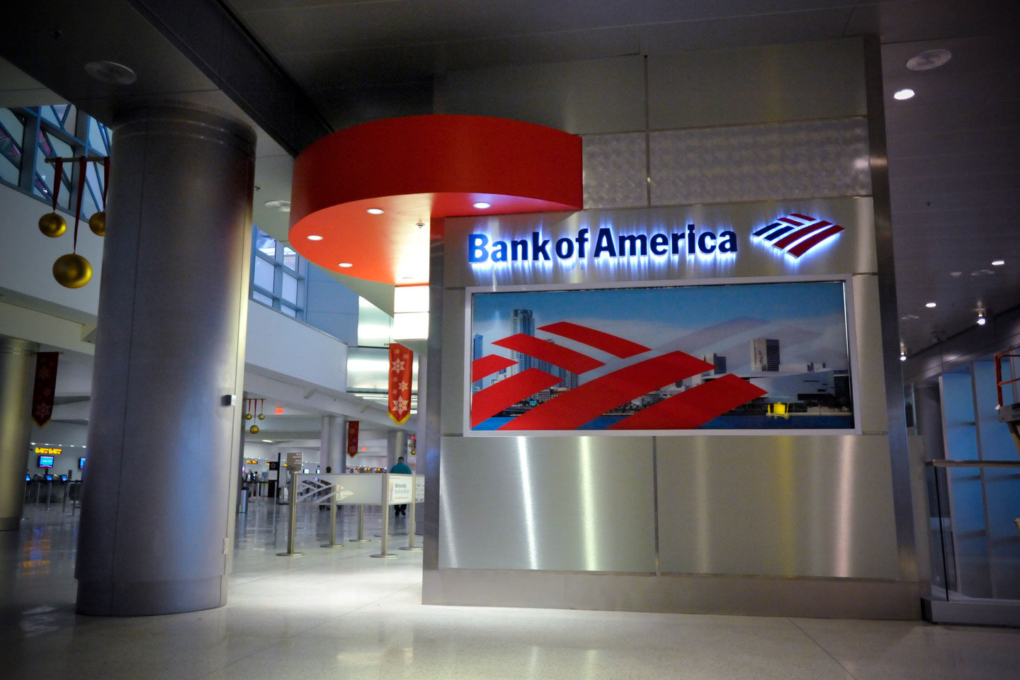 a photo of the maimi international airport bank of america