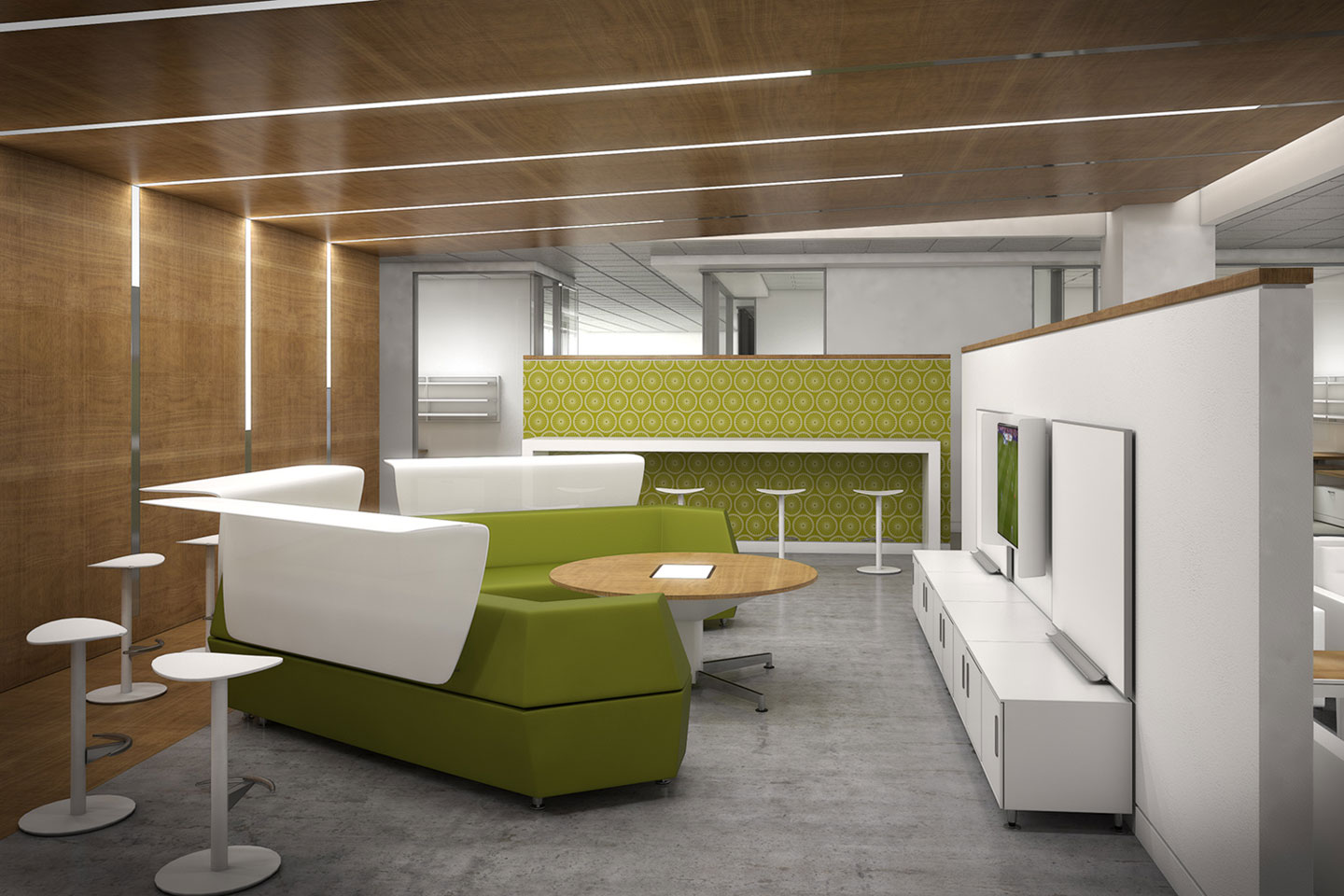 photo of the bupa office lounge area