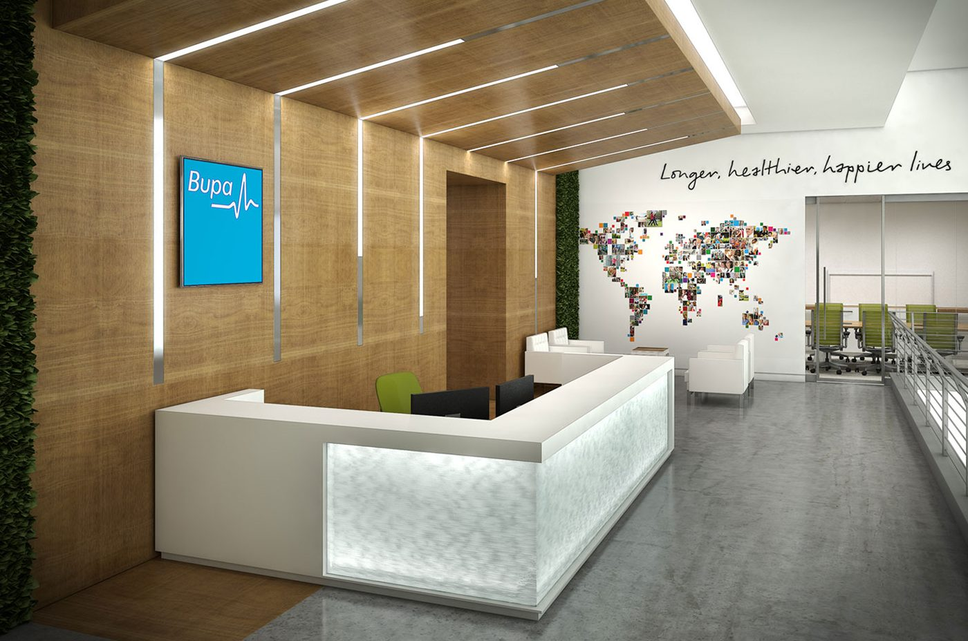 photo of the bupa office reception area