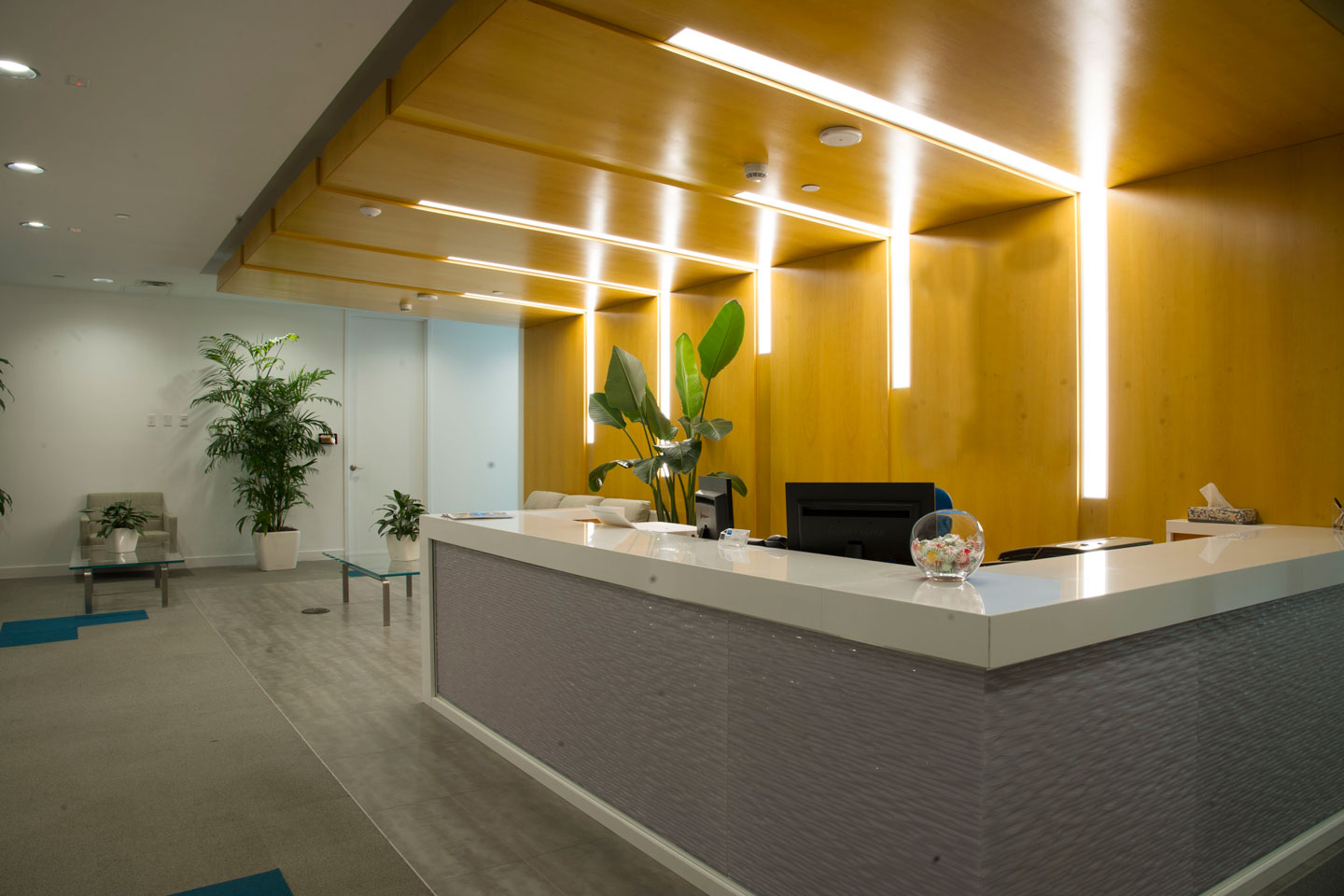 photo of the bupa office reception desk