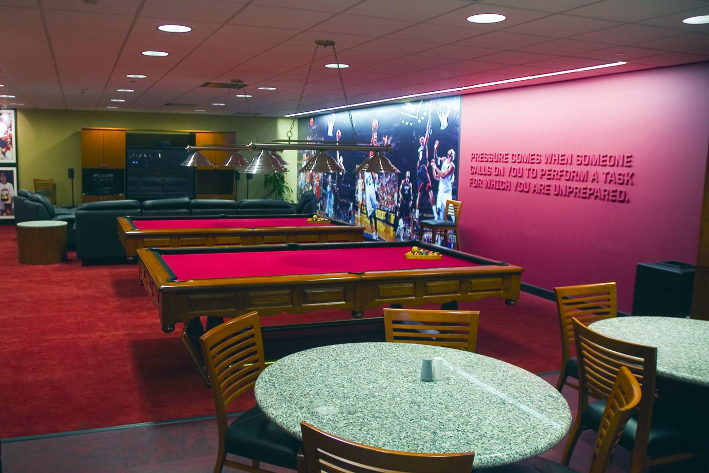 photo of the players lounge in champion hall