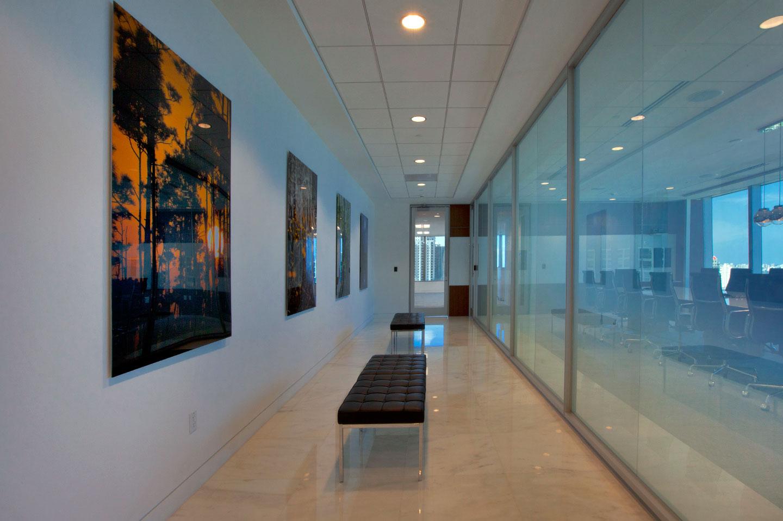 photo of a hallway at city national bank brickell