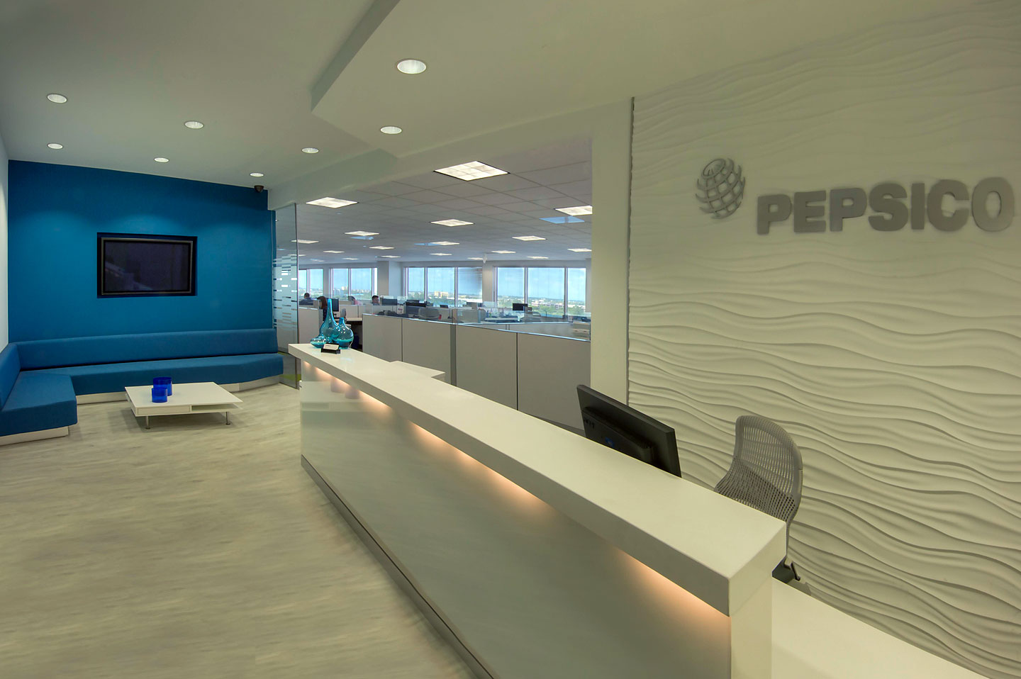 photo of the pepsi co reception desk