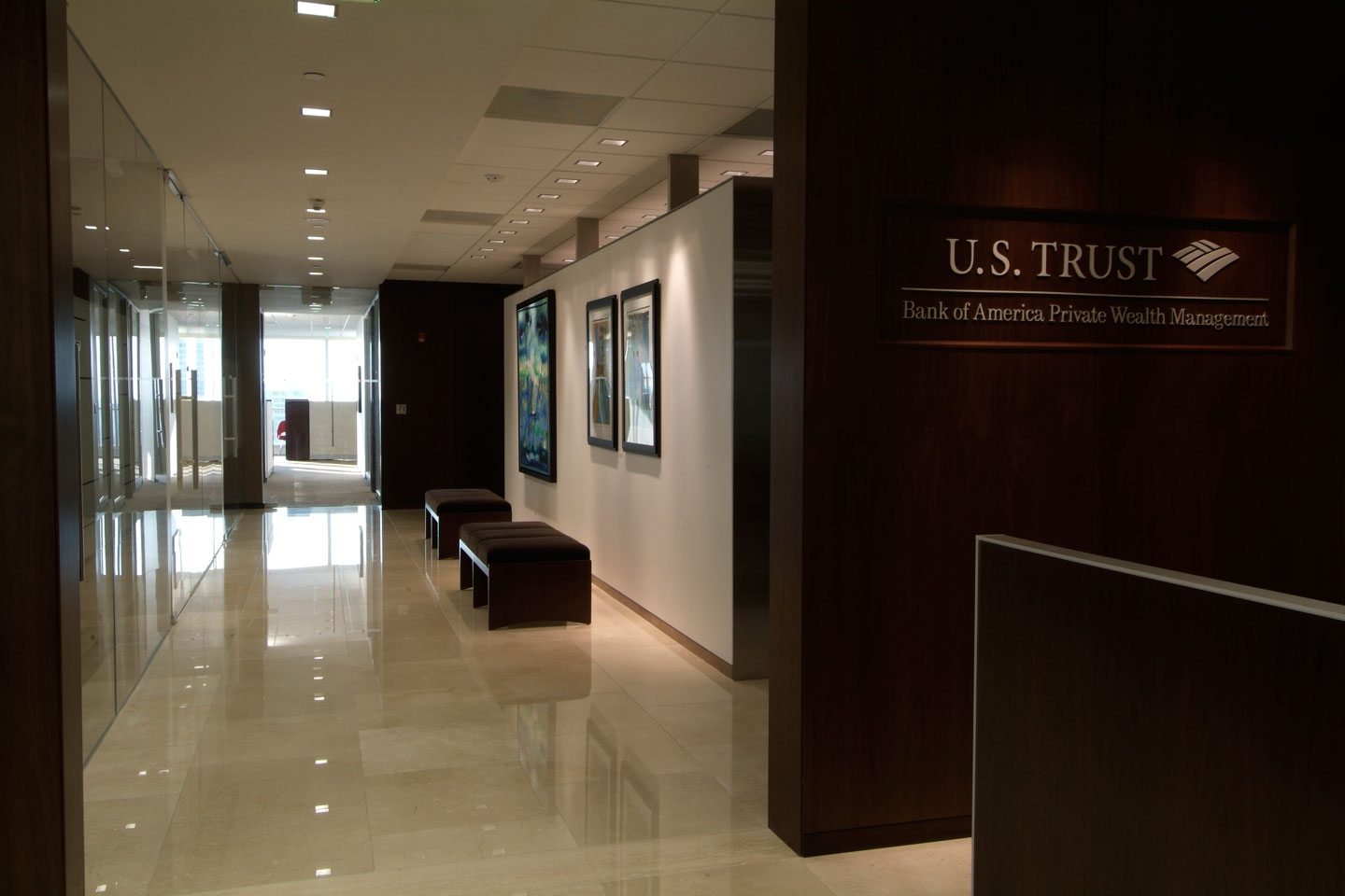 photo of a hallway in us trust office