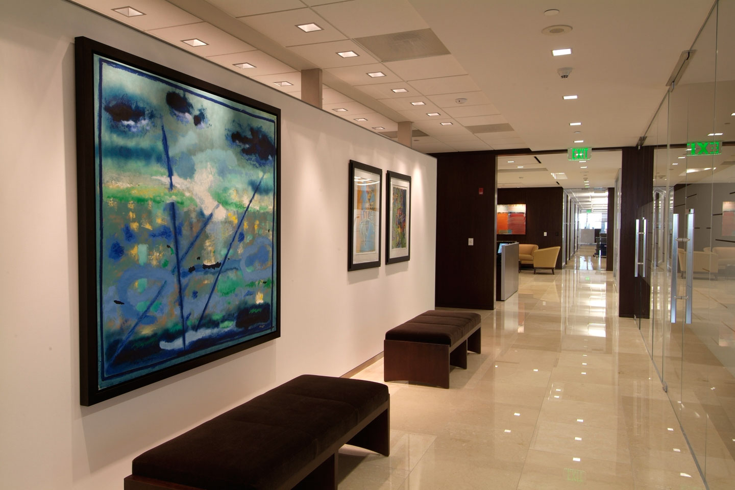 photo of the us trust hallway