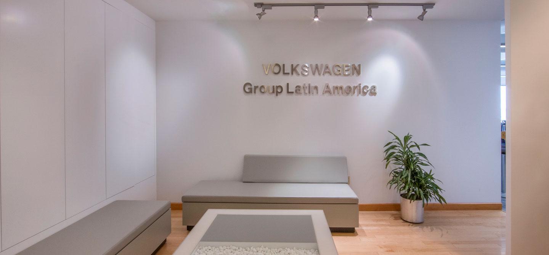 photo of the volkswagon latin america reception area